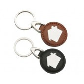 Leather & Metal Key Rings