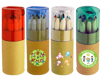 Colouring Pencils in Cardboard Tube