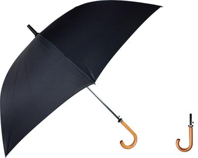 Curved Handle Umbrella (All Black)