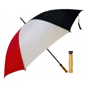 Budget Umbrella (Black-white-Red)
