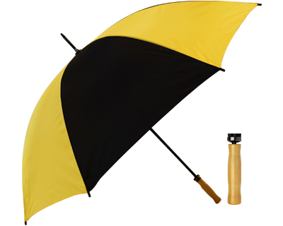 Budget Umbrella (Black-Yellow)
