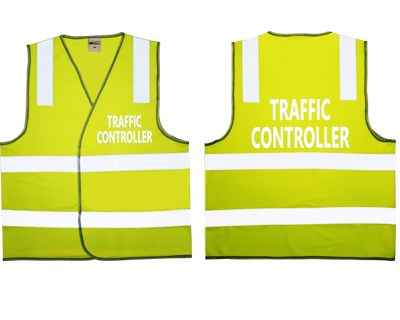 Traffic Control Safety Vest Lime