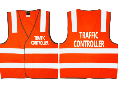 Traffic Control Safety Vest Orange